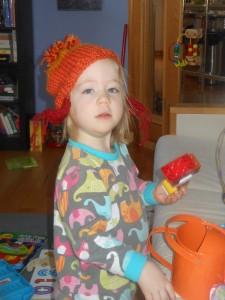 Sofia and hat